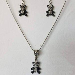 Jewelry - Panda Bear Necklace/Panda Bear Earrings